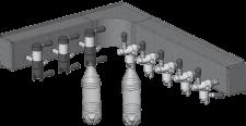 Модуль для настенного монтажа пеногасителей Atlant